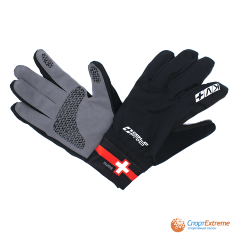 Перчатки KV+ COLD PRO Swiss cross country gloves black\red 21G05.S